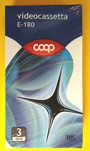 VHS COOP E-180 VERGINE Videotape Videocassetta Nuova SIGILLATA no dvd cd mc
