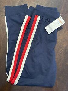 Gymboree Sweatpants Size M (7-8) Blue With Red & White Stripe