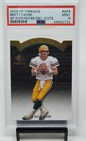 2009 SP Threads Superstar Die Cuts Packers BRETT FAVRE Card PSA 9 MINT Low Pop 2