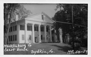 H75/ Boydkin Mecklinburg Virginia RPPC Postcard c50s County Court House 224