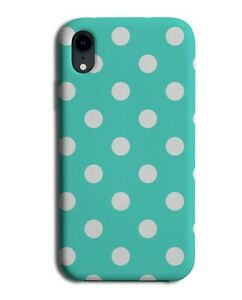 Turquoise Green and White Polka Dot Phone Case Cover Spots Dots Print i504