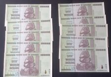 10 X 50 trillion dollar Zimbabwe notes . UNC