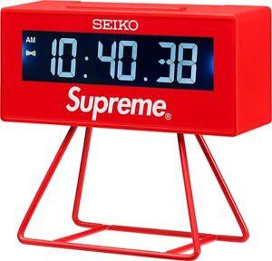 New Supreme®/Seiko Marathon Clock Red SS21 Week 9 Drop **ORDER CONFIRMED**