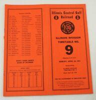 Illinois Central Gulf Railroad RR ETT Timetable 1981