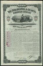 More details for u.s.a: philadelphia & reading railroad co., $1000 deferred income bond, 1882