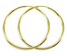 ECHT GOLD *** Große dünne Creolen  ca. 50 mm