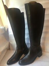 4ba87f3dec0 Clarks genuine leather dark brown riding size 4 E FLAT womens ladies boots  shoes