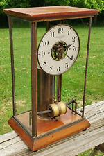 Antique BULLE Electromagnetic Glass Box Mantel Clock - Circa 1920 - France