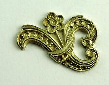 Antique Sterling Silver Marcasite Pearls FLOWER Jewelry Design Piece Trim EST583