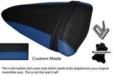 ROYAL BLUE & BLACK CUSTOM FITS KAWASAKI NINJA ZX6R 07-08 PILLION SEAT COVER