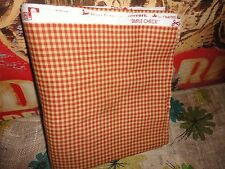 WAVERLY SIMPLE CHECK RUST RED & GOLD FABRIC 46 X 80 (2.22 YDS)
