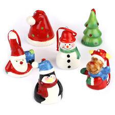 Set di 6 Natale Babbo Natale Decorazioni Albero Natale Appesi Decor Feste Favore Regalo Giocattolo