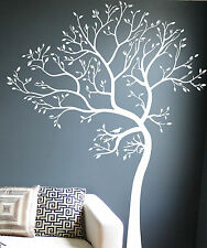 7FT LARGE TREE WALL DECAL Art Sticker Mural - Leaning to the Left - COLOR: WHITE