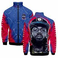 Nipsey Hussle Men Jacket Street Wear Spring Hip Hop Windbreaker Casual Plus Size