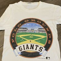 San Francisco Giants T Shirt Mens Small White Vintage 90s MLB Baseball USA Retro