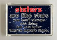 Sister Fun Gift - Novelty Fridge Magnet - Sisters Are Like Stars -Missing Family