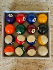 Superior Billiard Balls Work - Set of 16 Pool Game Balls In a Box