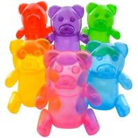 2 asst color GUMMY BEAR CANDIES INFLATES 24 inches tall novelty candy blowup toy