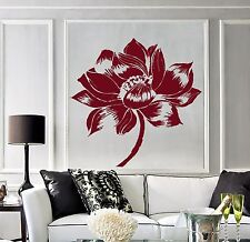 Vinyl Wall Decal Yoga Lotus Flower Meditation Buddhism Stickers (779ig)