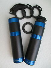 """Valter Moto """"Street"""" Grips for 22mm Handlebars, Blue"""