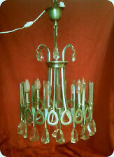ancien lustre  à pampilles cristal 6 branches french crystal chandelier