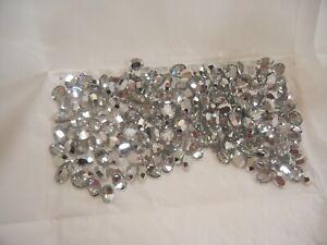 36 swarovski oval triple cut stones,8x6mm comet argent light #4140