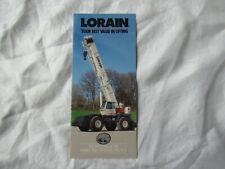 1991 Koehring Lorain cranes  brochure