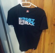Boys pure cotton black skater t-shirt from Saltrock age 7 8 9 10 11 12 and 13
