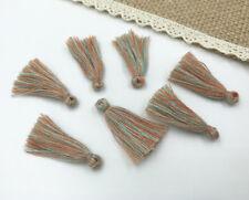 200pcs Orange Muti color Small Cotton Thread Tassel Charm Pendant Tassels 30mm
