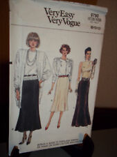 Vogue 9790 Sewing Pattern Misses Skirt Size 8 10 12  Uncut Factory Folded