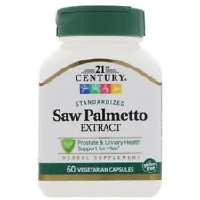 SAW PALMETTO CONCENTRATED EXTRACT - 60 Vegetarian Caps ZINC MENS PROSTATE HEALTH