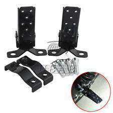 Steel Foldable Foot Step Pegs Stand Beach Lowrider Black Motorcycle BMX Bikes