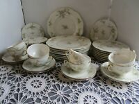 40 pc. Theodore Haviland New York Rosalinde Fine China, Pink and Gold, EXCELLENT