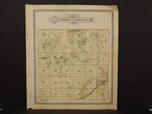 Wisconsin Washburn County Map Birchwood Township 1915  L13#98
