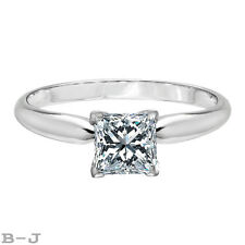 Princess Solitaire Wedding Engagement Ring 6.00ct.14K Two Tone Gold #4886