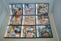 Nintendo DS NARUTO 9 pcs set Japan import Shinobi Retsuden Saikyo Ninja Daikeshu