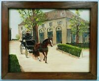"M.JANE DOYLE SIGNED ORIG.ART OIL/CANV. PAINTING ""BRUGES BELGIUM"" (STREET ART)FR."