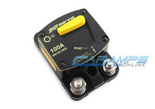 STINGER 100 AMP MARINE GRADE CAR STEREO 12V INLINE POWER CIRCUIT BREAKER 100A