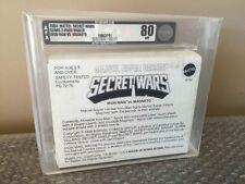 1984 Mattel Marvel Secret Wars Sears 2-Pack Mailer  IRON MAN VS. MAGNETO AFA 80!