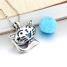 Halskette Medaillon mit Anhänger Duft Aroma Pad Diffuser Katze