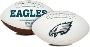 Philadelphia Eagles Full Size Football White Panel Logo Signature Series New