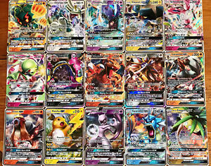 30 Pokemon Cards - 1x GX or EX or Break or V Ultra Rare +3 Rare & Holo Cards
