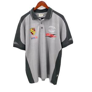 HAKRO Performance Mens XL Red Porsche 935 Amalfi Racing Short Sleeve Polo Shirt