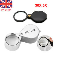 30X 5X Magnifier Glass Pocket Small Size Optical Magnifying Lens Mini Eye Loupe
