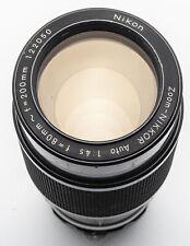 Nikon zoom-zoom Nikkor Nikkor 80-200mm 80-200 mm 1:4 .5 4.5 analógico