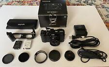 Fujifilm Fuji X100T 16.3MP Digital Camera Low Shutter Count Black EUC Extras