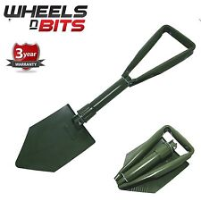 NEW FOLDING PORTABLE SHOVEL & STORAGE POUCH CAMPING EMERGENCY CAR SALE