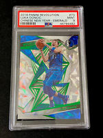 2019 Panini Revolution #7 LUKA DONCIC Chinese New Year EMERALD #'d/88 - PSA 9