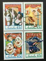 AUSTRALIA - 1997 'CIRCUS IN AUSTRALIA' Block of 4  MNH SG1675-78