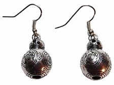 Star Wars BB-8 Character Silvertone 3D Metal French Wire EARRINGS